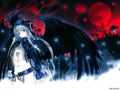 Click to downlowd the picture :: Black wings angel