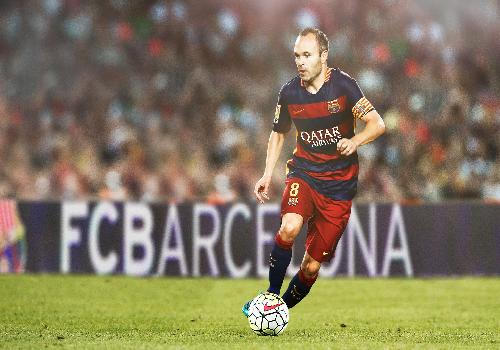 Andres Iniesta au FC Barcelone