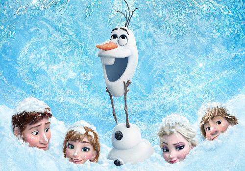 la reine des neiges frozen de disney avec olaf