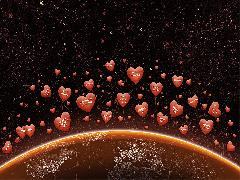Click to downlowd the picture :: Hearts over earth