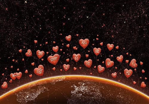 Hearts over earth