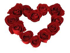 Click to downlowd the picture :: Heart of roses