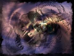 Click to downlowd the picture :: Monsters & Creatures: skull dragon vs