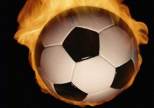 Fond d 39 cran ballon de foot de feu foot for Fond ecran foot