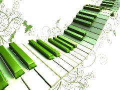 Click to downlowd the picture :: Piano keyboard Green