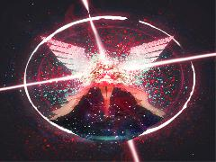 Wallpapers Madoka Ultimate Madoka Eclipse Energy Rose Black Background Stars