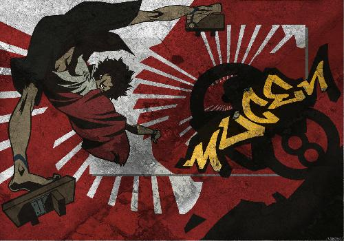 Samourai Champloo Mugen Martial Arts Geta Text Mugen Yellow Red And Black Background