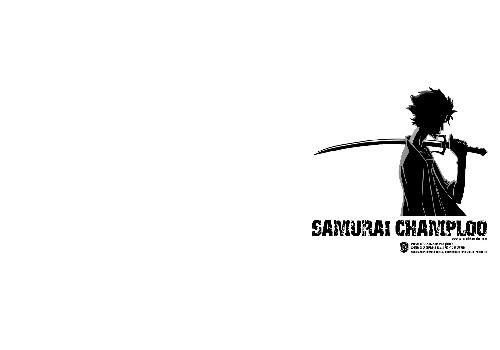 Samourai Champloo Mugen Epee Shoulder Black And White White Background