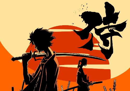 Samurai Champloo Mugen And Jin Back To Back Hand Sword Sun Sunset