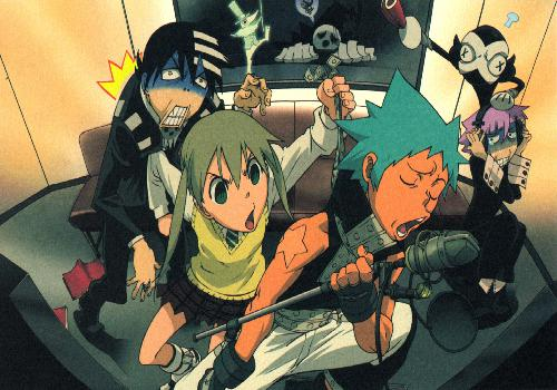 Soul Eater Kid Maka Black Star Et Crona Karaoke Dispute Death Derriere Atterre