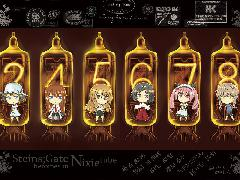 Wallpapers Steins Gate Heroines In Nixie Tube