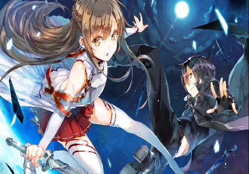 SAO Kirito Asuna Jumping Moonlight