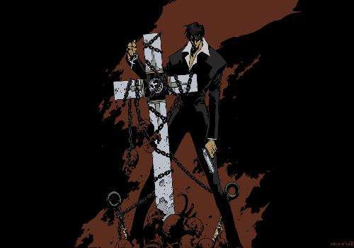 Trigun Nicholas Wolfwood Hold Punisher Enchaine Pistol Bottom Brown And Black