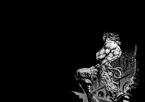 JoJo Dio Chest Nude Black And White Brand Birth Joestar Black Background