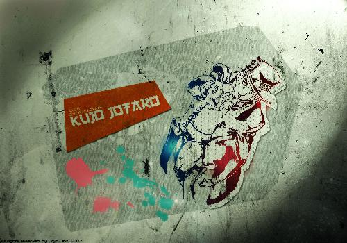 JoJo Kujo Jotaro Black And White Wall Spots Paintings