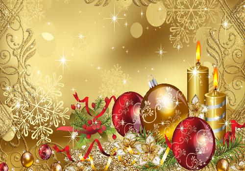 design de bougies et decorations de noel