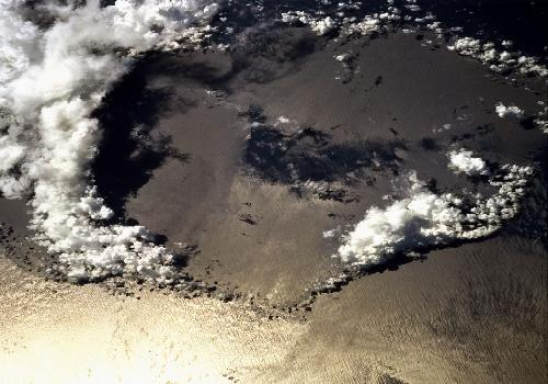 Clouds over the Pacific seen from space