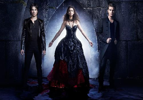 Elena, Stefan, Damon and some blood