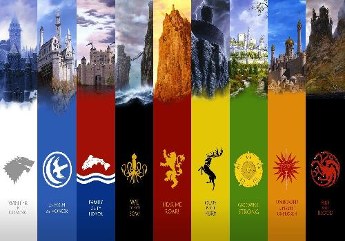 Game of Thrones, the blasons