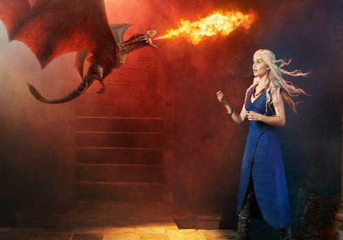 Game of Thrones : Daenerys Targaryen et le dragon
