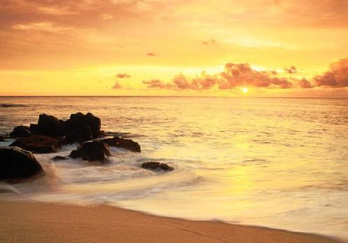 Fonds d 39 cran couchers de soleil fond d 39 cran - Fond ecran coucher de soleil sur la mer ...
